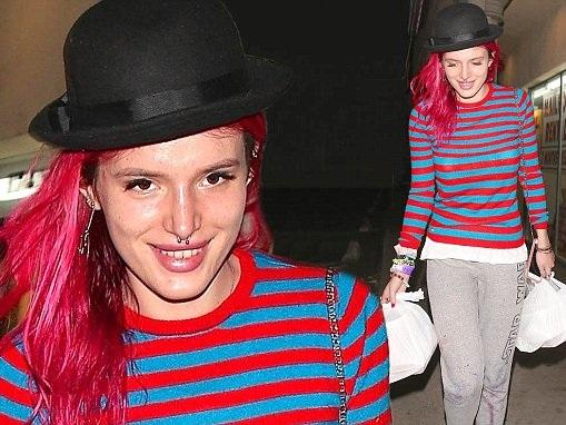 Bella Thorne rocks odd ensemble for casual dinner