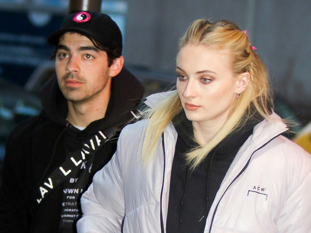 Sophie Turner Chugs Her Wine at Rangers Game with Joe Jonas