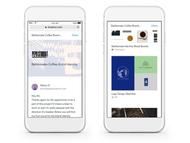 Dropbox targets freelance pros with Showcase portfolios and Professional pricing tier