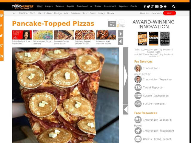 Pancake-Topped Pizzas - Toronto's Lamanna's Bakery is Selling Pizza Slices with Tiny Pancakes on Top (TrendHunter.com)