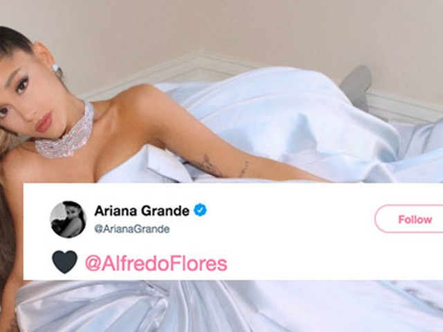Ariana Grande casually lounges at home in the dress she would have worn to the Grammys