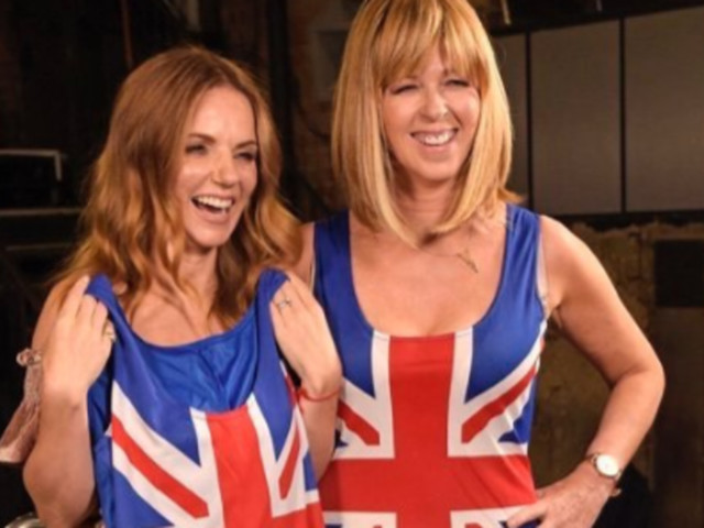Kate Garraway Channels Ginger Spice In A Copy Of Geri Horner's Iconic Union Jack Dress On 'Good Morning Britain'
