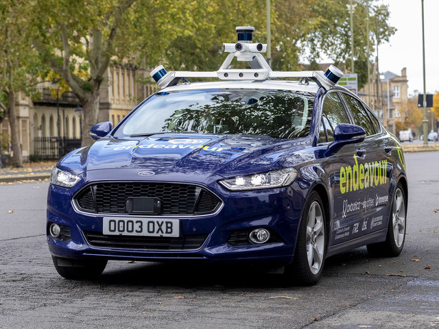 Self-driving Ford Mondeos roll out in Oxford for government-backed project