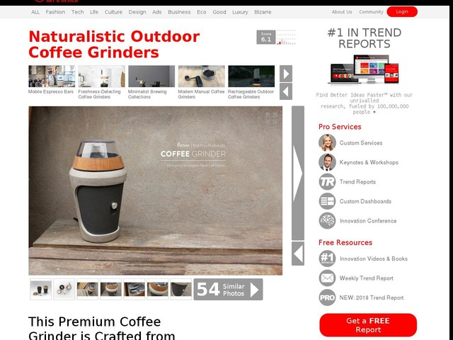 Naturalistic Outdoor Coffee Grinders - This Premium Coffee Grinder is Crafted from Wood and Stone (TrendHunter.com)