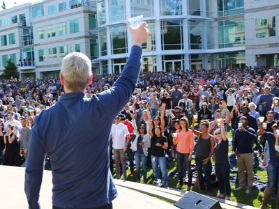 Apple is announcing a new iPhone today and its stock is rising (AAPL)