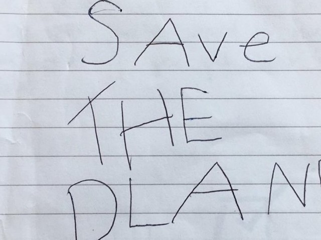 'The Earth Is Getting Sadder': 6-Year-Old Creates 11-Page 'Save The Planet' Pamphlet