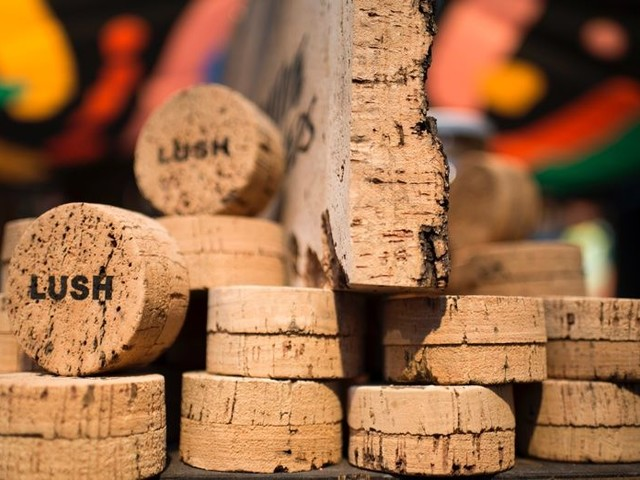Carbon-Positive Cork Packaging - Lush Cosmetics' Cork Pot Introduces the Future of Eco Packaging (TrendHunter.com)