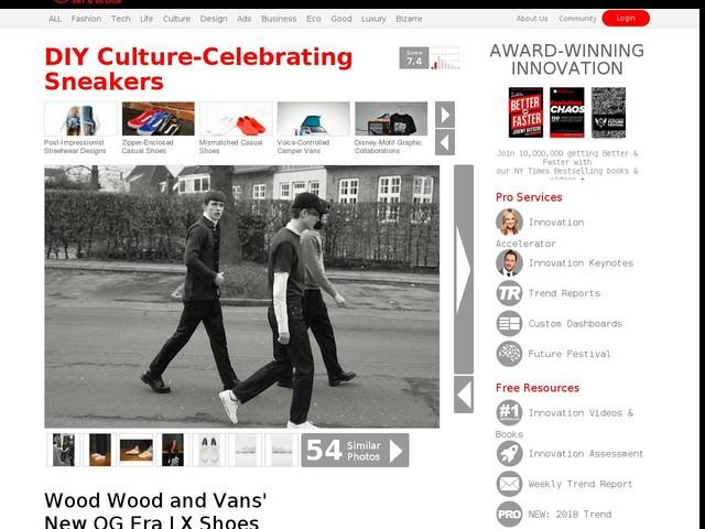 0081742984 DIY Culture-Celebrating Sneakers - Wood Wood and Vans  New OG Era LX Shoes  Celebrate Fan Culture (TrendHunter.com)