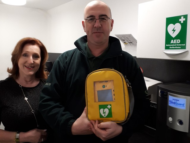 Business unveils new life-saving defibrillator on industrial estate