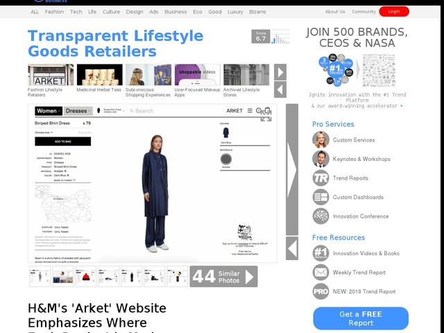 Transparent Lifestyle Goods Retailers - H&M's 'Arket' Website Emphasizes Where Each Product is Made (TrendHunter.com)