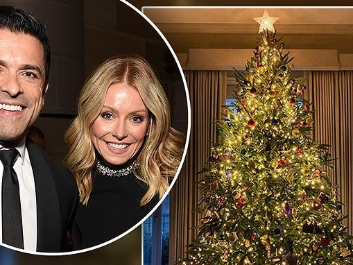 Kelly Ripa shares a first look at her stunning 12 foot tall Christmas tree