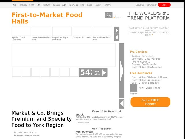 First-to-Market Food Halls - Market & Co. Brings Premium and Specialty Food to York Region (TrendHunter.com)