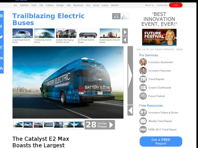 Trailblazing Electric Buses - The Catalyst E2 Max Boasts the Largest Range Of Any Electric Vehicle (TrendHunter.com)