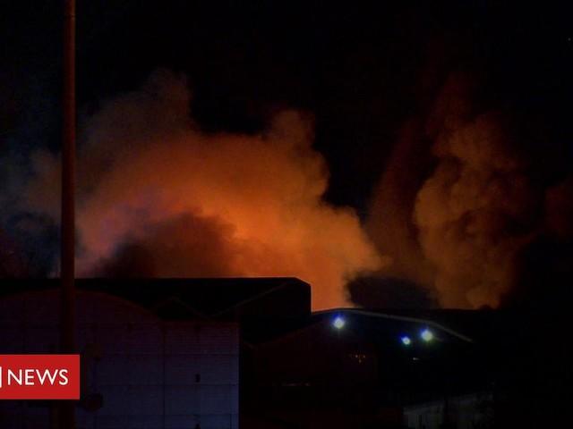Firefighters tackle blaze at Belfast storage unit