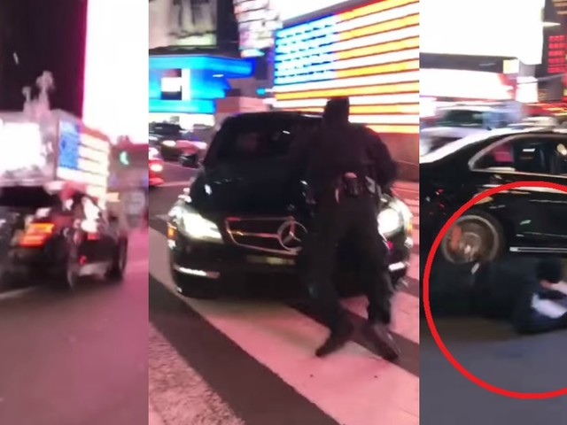 VIDEO : Mercedes-AMG C63 Driver Hits Cop To Evade Penalty