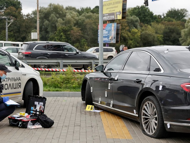 Ukraine leader pledges 'strong response' after shots fired at aide's car in assassination attempt