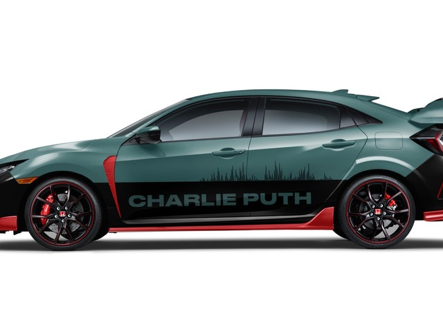 Charlie Puth designs a Civic Type R for the 2018 Honda Civic Tour