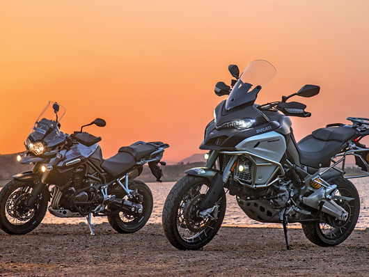 2017 Ducati Multistrada Enduro v Triumph Tiger Explorer XC comparison