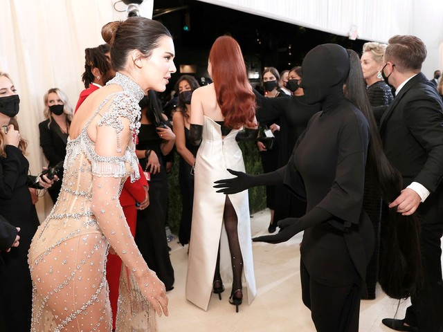Kim Kardashian says she 'couldn't see' sister Kendall Jenner through her Met Gala outfit