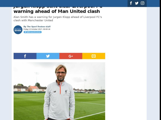 Jurgen Klopp sent clear Liverpool FC warning ahead of Man United clash