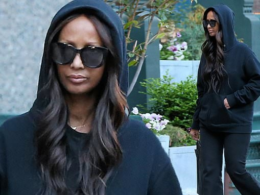 Iman Bowie makes a rare appearance in New York
