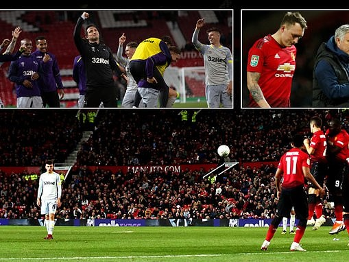 Manchester United 2-2 Derby (7-8 on pens): Harry Wilson inspires shock with stunning free-kick