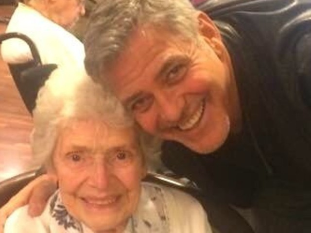George Clooney Melts Hearts With Surprise Visit To 87-Year-old Superfan
