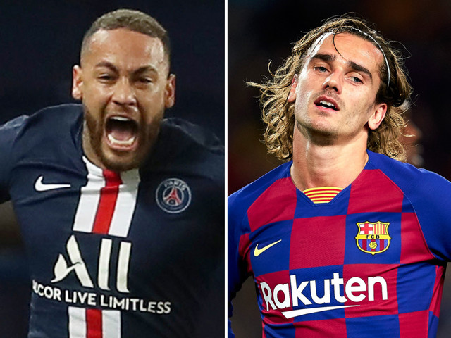 Barcelona looking at part-exchange transfer with PSG to sign Neymar with Antoine Griezmann going other way