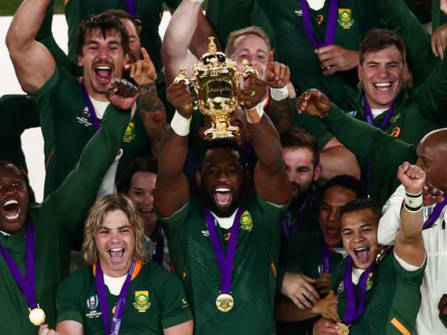 Videos: South Africa crush England to win the Rugby World Cup - how Springboks fans reacted