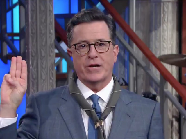 Stephen Colbert Updates the Boy Scout Oath After Trump's Speech to the Troops