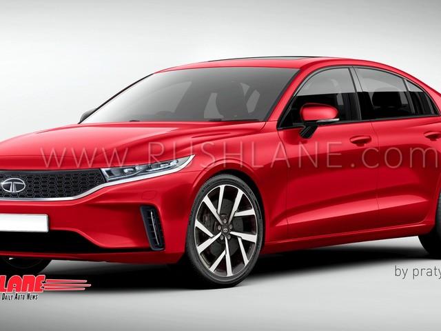 Tata 45X based premium sedan rendered – Honda City, Maruti Ciaz rival