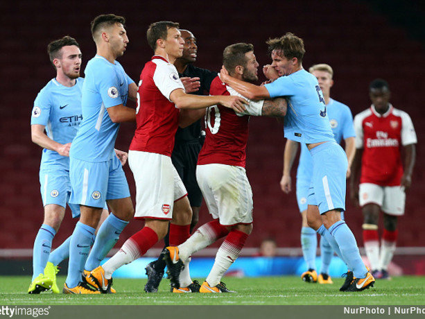 Jack Bites Back: Wilshere Hit By Late Challenge, Sent Off For Brawling With Children In Arsenal Under-23 Fixture (Video)