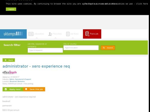 administrator - xero experience req