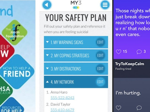 These crisis text lines and apps are an alternative to get help without having to call the suicide prevention hotline