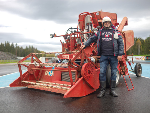 Farmer in Finland's combine harvester does 95mph making it fastest in the world