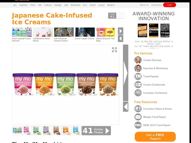 Japanese Cake-Infused Ice Creams - The My/Mo Mochi Ice Cream with Mochi Bits Comes in Five Flavors (TrendHunter.com)