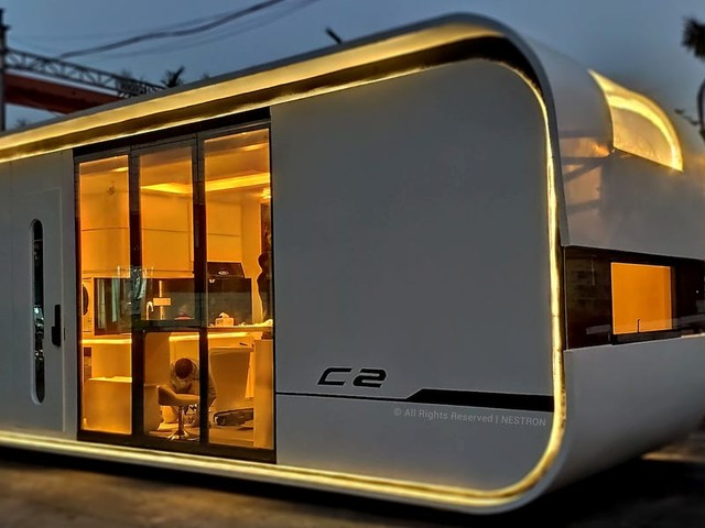 A $52,000 tiny smart home looks like a space ship and can sleep a family of 4 — see inside