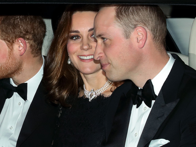 Prince Harry, Kate Middleton, & Prince William Step Out for Queen Elizabeth & Prince Philip's 70th Anniversary Dinner