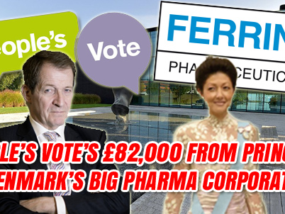 People's Vote Took £82,000 Donation from EU Big Pharma Corporation