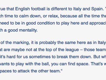 Álvaro Morata explains the difference between English, Spanish, Italian football