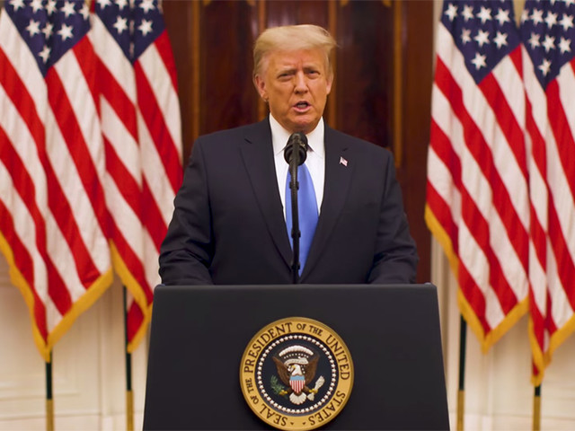 Trump Decries 'Political Censorship' in Farewell Video on YouTube