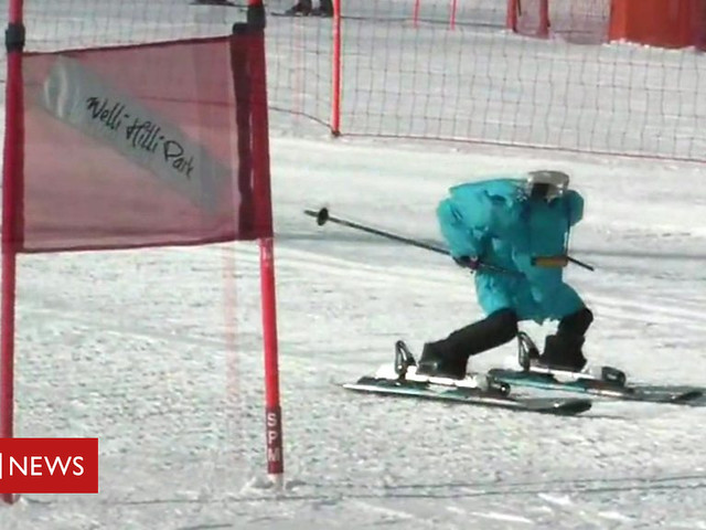 Robots compete in skiing challenge and other news