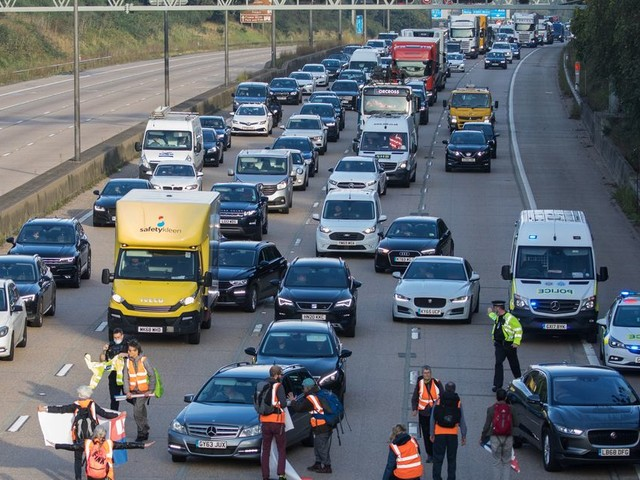 In Pictures: Climate Activists Target M25 For Fifth Time In Just Over A Week