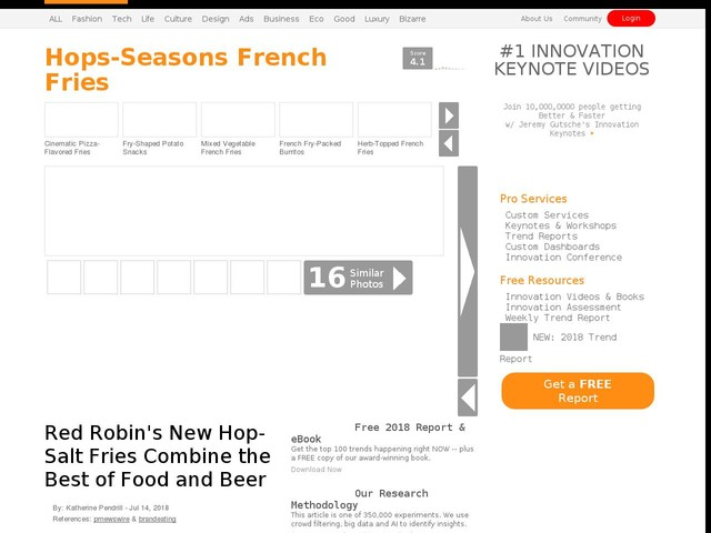 Hops-Seasons French Fries - Red Robin's New Hop-Salt Fries Combine the Best of Food and Beer (TrendHunter.com)