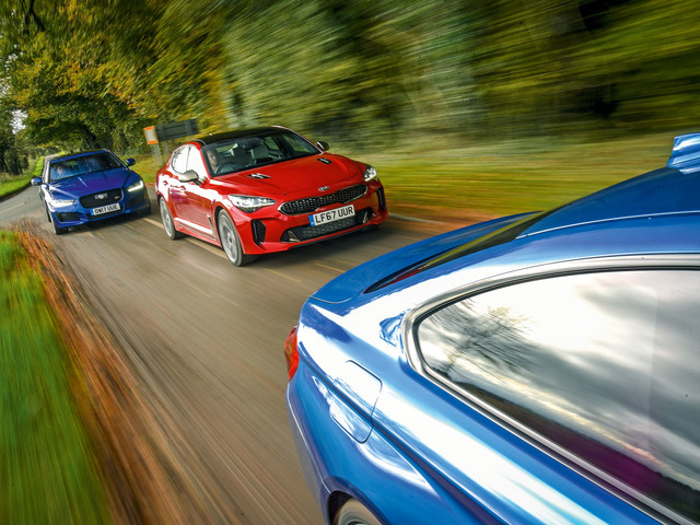 Kia Stinger GT-S vs BMW 440i and Jaguar XE S - can it handle the heat?