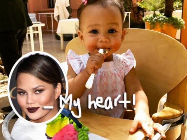 Chrissy Teigen Captured The Moment Baby Luna Said Her First Word & It's The Cutest!