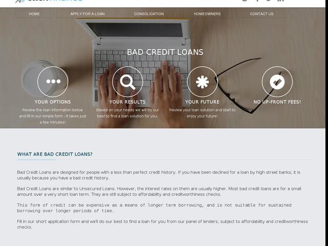 Bad Credit Loans - Click Finance