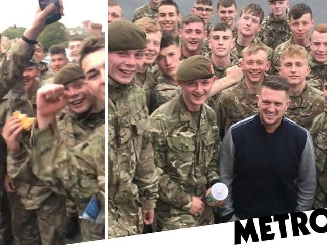 Soldier grinning in video with Tommy Robinson 'to be discharged form army'
