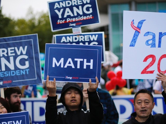 Elizabeth Warren and Bernie Sanders would stand to benefit from the most from Andrew Yang dropping out of the 2020 presidential race