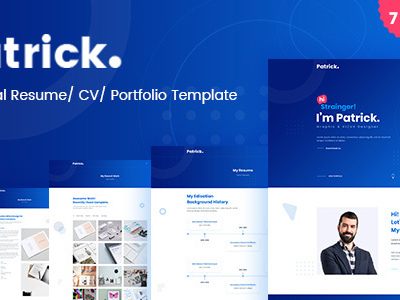 Patrick modern personal resume psd template virtual business card patrick modern personal resume psd template virtual business card cheaphphosting Choice Image